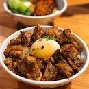 Burnt Chilli Chicken Rice Bowl ($10++)
