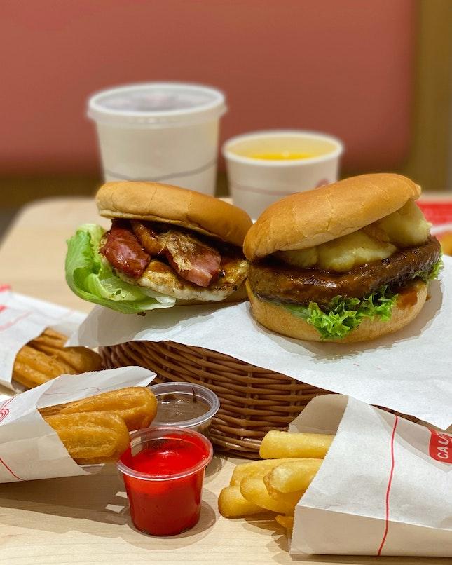 Premium Smoked Wagyu Burger & Smoked Duck Burger