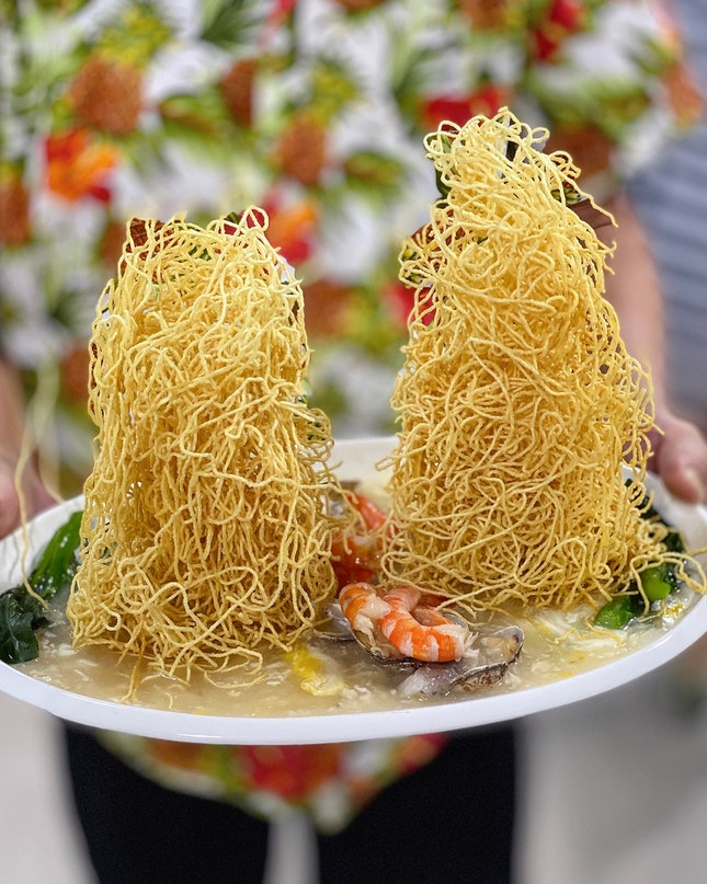 Twin Towers Seafood Crispy Noodles ($10)