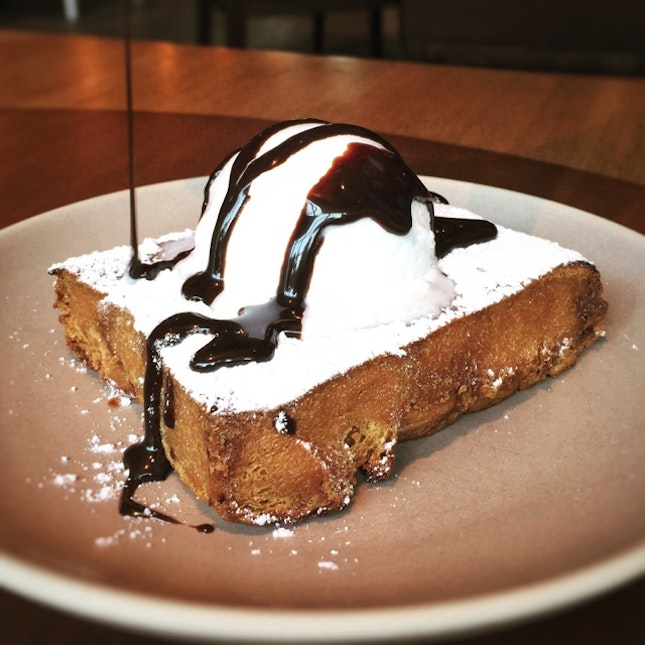 An Unforgettable Caramel French Toast  ($9++)