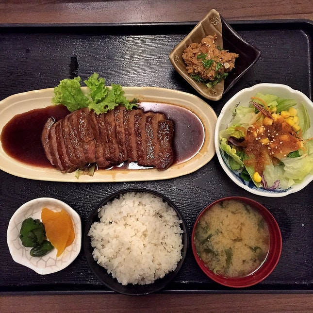 Gyu Niku Teishoku or Beef Teriyaki Set ($35++)