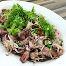 Major love for this: baby squid steamed with tonnes of chopped garlic, coriander, spring onion and chilli padi.