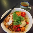 Dry Penang Curry Mee ($5.50 nett inclusive of a drink)
