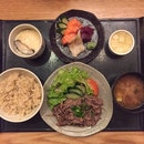 Grilled Beef Set (with Sashimi: $25++, without: $18++)