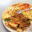 Pattaya Fried Rice from the hidden gem of a halal eatery - Cafe Dahlia.