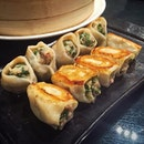The best place to stick these pot-stickers is in your mouth!