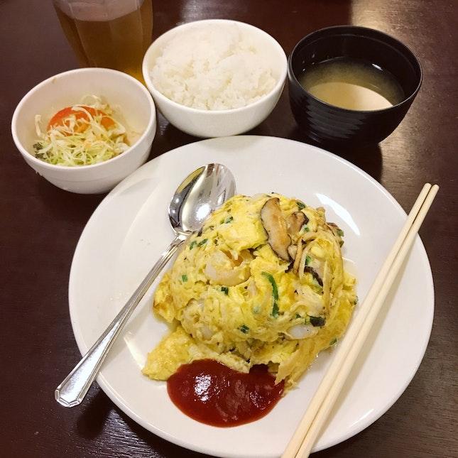 Set Lunch: Prawn Omelette ($16++)
