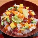 Lunch Only: Chirashi Sushi Set ($33++)