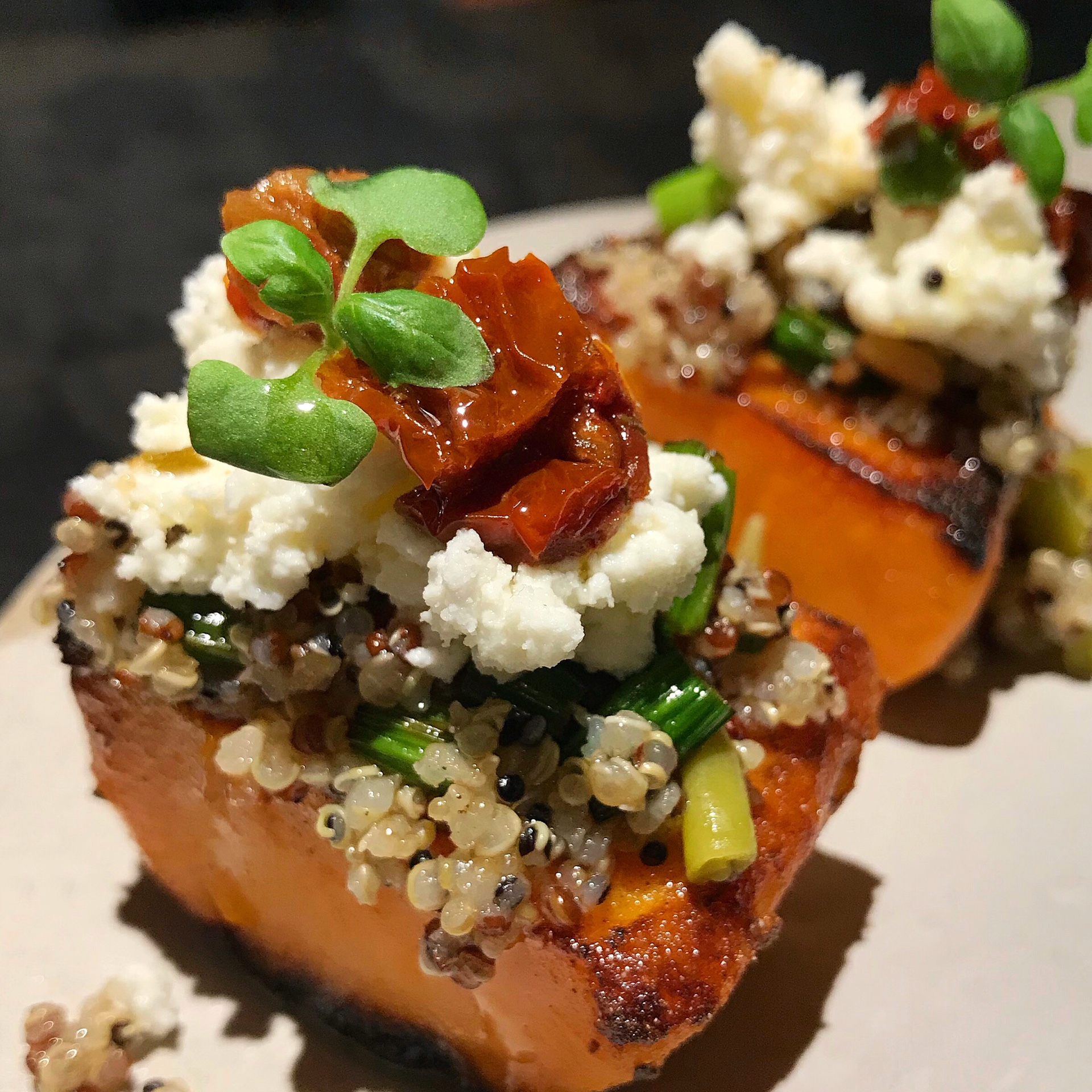 New To Menu: Charcoal-grilled Sweet Potato with Quinoa ($18++)