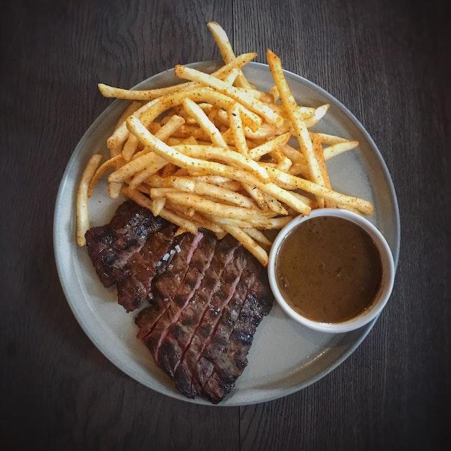 Steak Frites ($28++)