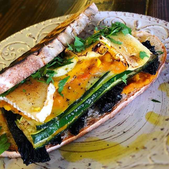 NEW All-day Item: Grilled Vegetable Sandwich ($19++)