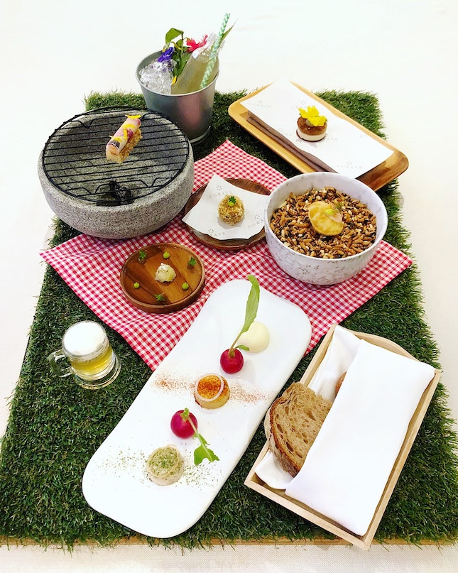 Enjoy A Picnic As The First Course In Their NEW Spring Summer Menu