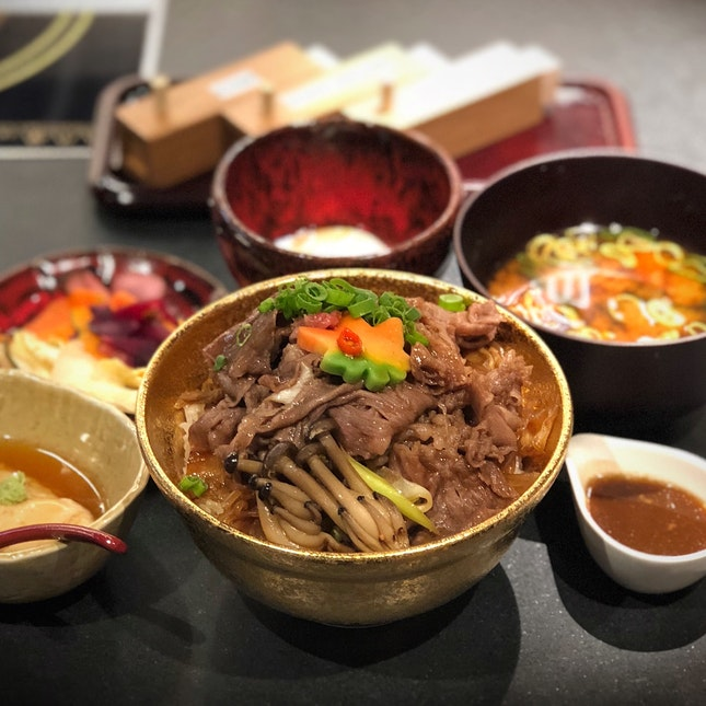 The Wagyu Beef Sukiyaki Don Is Pricier But The Beef Is Softer And Silkier ($29.90++)