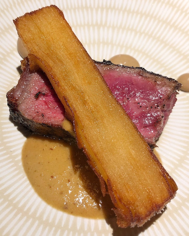 "The ""Steak Frites"" At The 4-hands Dinner By FOC and Spago"