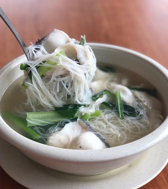 Sliced Fish Beehoon Soup ($8)