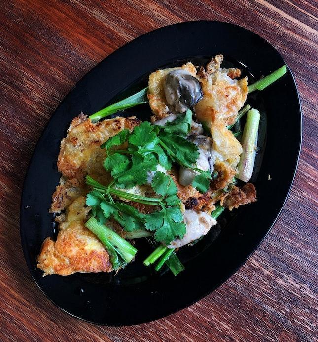 On The Dinner Menu: Oyster Omelette ($10.80 nett)