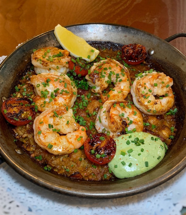 """NEW Paella: The """"OLA"""" With Either Boston Lobster Or Tiger Prawns"""