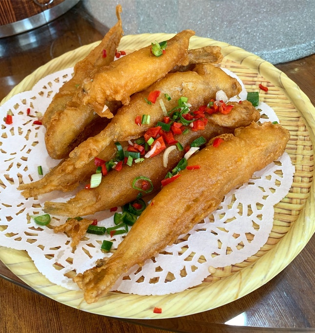 Addictive Fried Sardines ($13.80++ for a small serving)