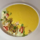 Fantastic White Corn Soup With Lobster ($32++)