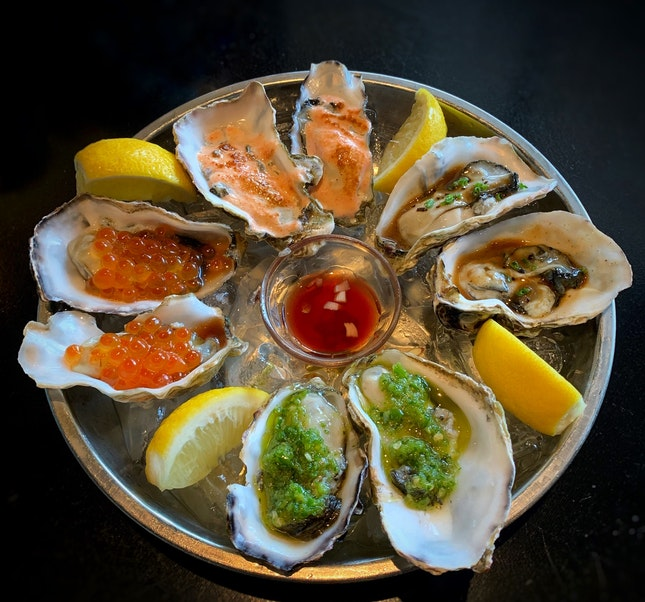 NEW: Oysters With Fancy Flavourful Toppings ($6 each)