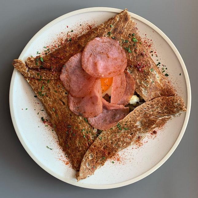 Salami & Potatoes Galette ($18++)