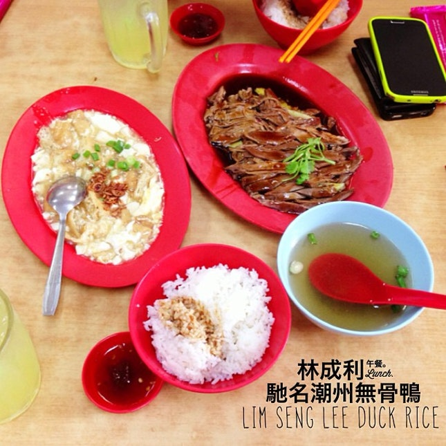 Lim Seng Lee Duck Rice w @eemonpark we ordered duck meat for 2, tofu, 4 bowls of rice, 2 braised eggs and 2 lime juice.