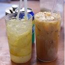 Sprite w salted lemon & iced milk tea