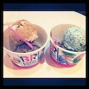 Eating icecream with @thunderspark_ !