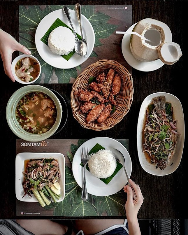 The only reason that always brought us back to Som Tam Nua for a meal whenever we're in Bangkok, is their Deep Fried Chicken (THB 120/160).