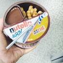 New packaging with drink :))) #potd#weekend#nutella#instagood#foodieat#foodgram#foodporn#foodphotography#foodesteem#delish#nomnom#igsg#iweeklyfood#instapic