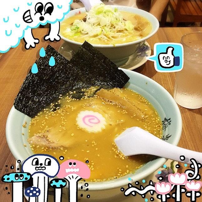 #dinner at #oneKM #singapore #baikohken @baikohken #ramen #japanese #food #shiok #noodle #fatgal #burpple