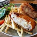 Cheese Stuffed Chicken Schnitzel
