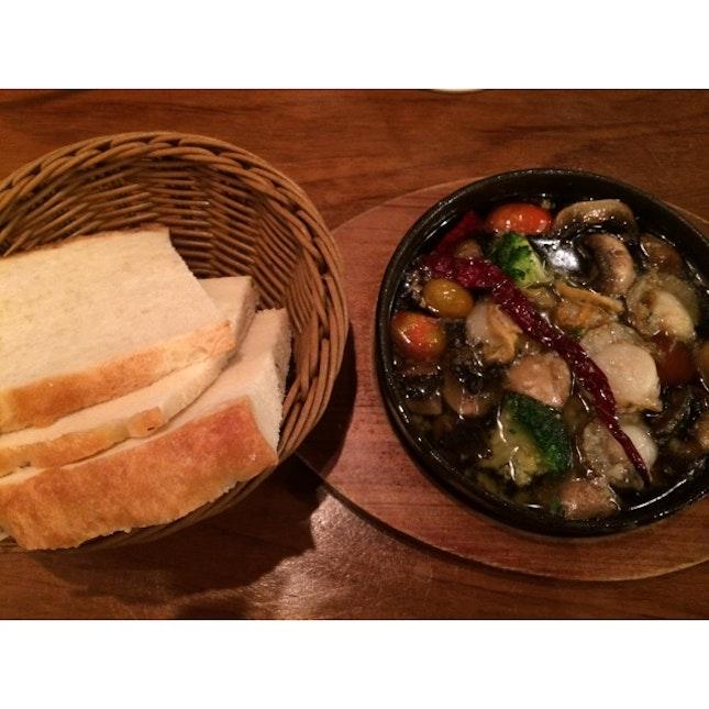 Mushroom and Scallop Ajillo