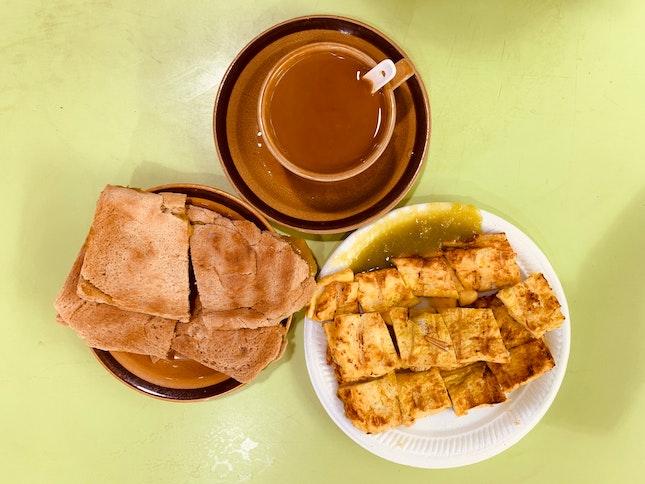 Coffee, Kaya Toast & French Toast