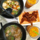 Beef Boat Noodle & Thai Grilled Chicken Noodle
