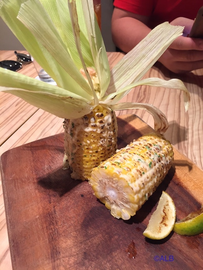 Grilled Corn With Parmesan