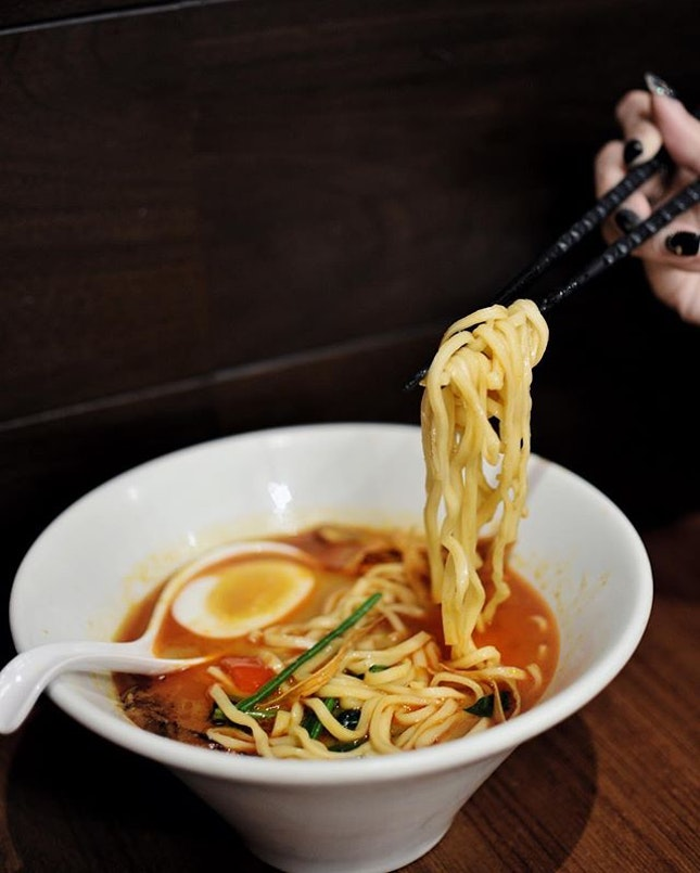 Ippudo's new seasonal Rich Curry Tonkotsu Ramen [$17++] is available new until end of May 2019.