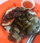 char siew & roasted meat rice