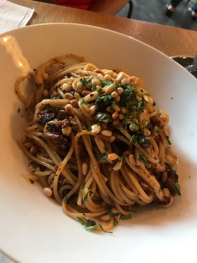 Spicy Mushroom Aglio Olio