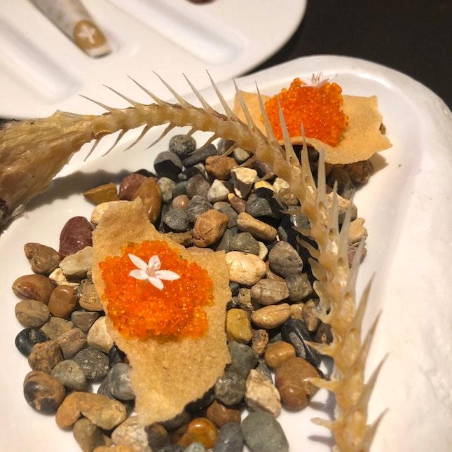 Fish Cracker With Tobiko