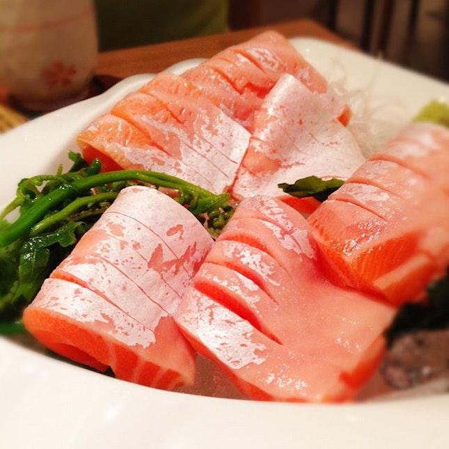 Every sushi bar should serve sashimi at this rightful size.