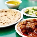 Lunch today of the legendary chapatti with masala mutton.