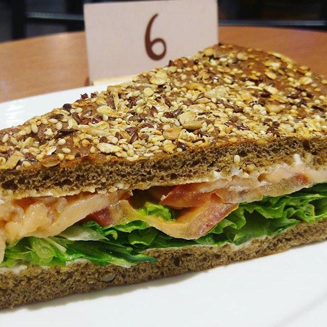 Brunch @kraftwichsg  Salmon wholegrain sandwich.