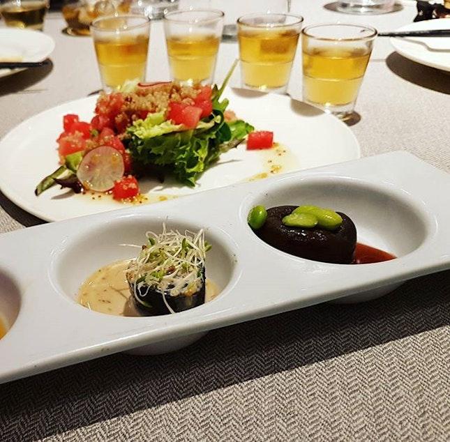 大年初二。 Cheers to good health and wisdom @elemensg 🍻  Tasty vegeterian big on flavors.