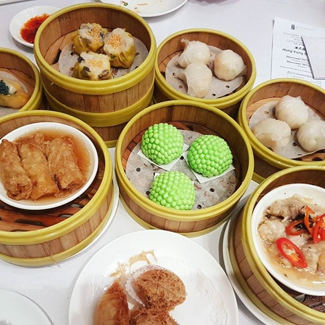 Dim sum time @peachgardensg with their ala carte buffet.