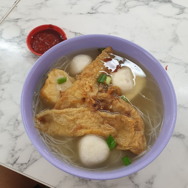 Yong Tay Hu Bee Hoon Soup ($5)