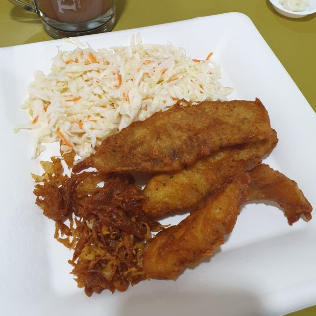 Tilapia + Coleslaw ($10.80)