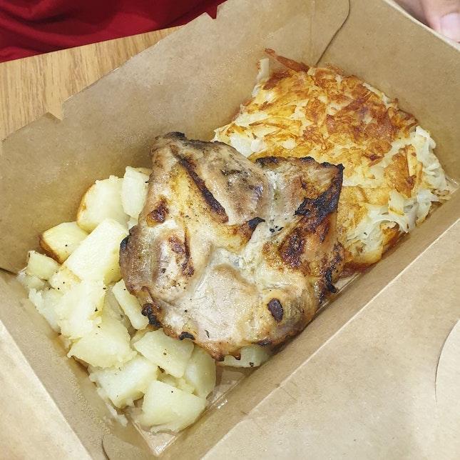 BYO Rosti + Chicken Schnitzel + Roasted Vegetables ($15.90)
