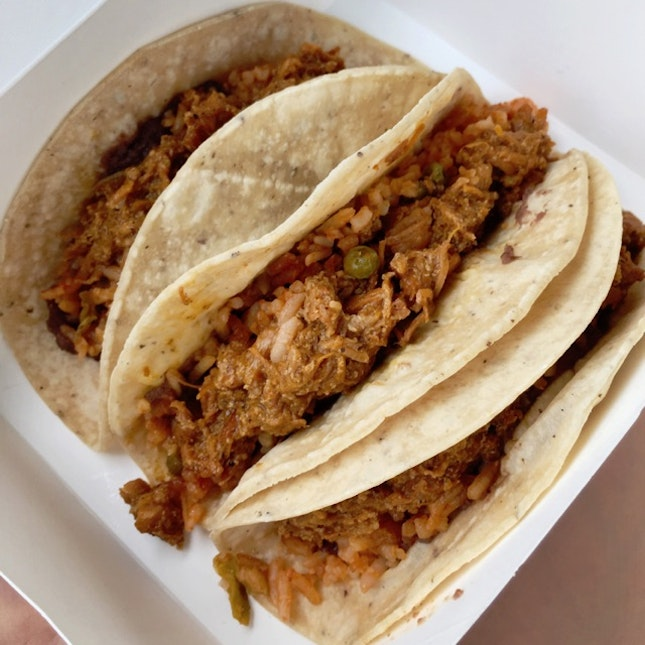 For a Trio of Tacos at $10