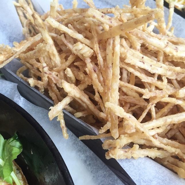 For Light as Air Truffle Taro Fries